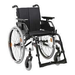 Leichtgewicht- Faltrollstuhl Caneo S mit Begleitpersonenbremse