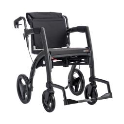 Rollator/Rollstuhl Rollz Motion 2-in-1, schwarz